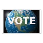 EARTHVOTE Sticker (Rectangle)