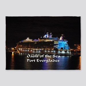 Oasis of the seas 5'x7'Area Rug
