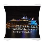 Oasis of the seas Woven Throw Pillow