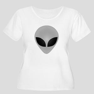 Alien Head Women's Plus Size Scoop Neck T-Shirt