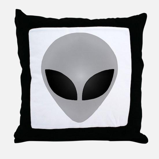 Alien Head Throw Pillow