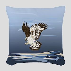 Aerial Predator Woven Throw Pillow
