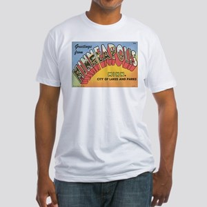 Minneapolis Postcard Fitted T-Shirt
