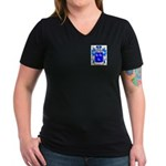 Reidie Women's V-Neck Dark T-Shirt