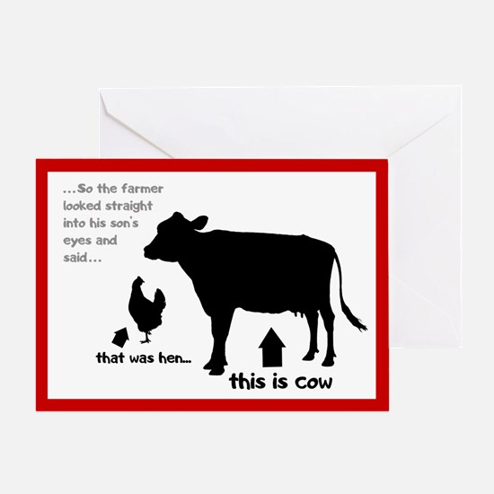 That was hen... Greeting Card