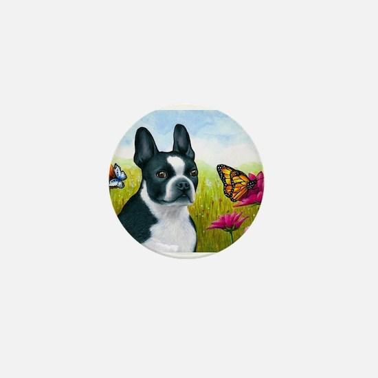 Dog 134 Boston Terrier Mini Button