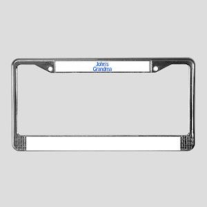 John's Grandma License Plate Frame