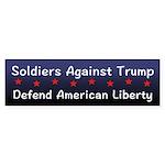 Soldiers Against Trump Bumper Sticker