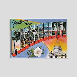 Mississippi Postcard Rectangle Magnet