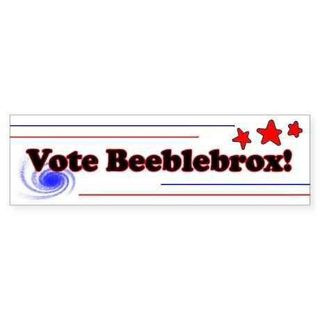 Vote Beeblebrox! Bumper Sticker