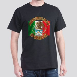 Mexican Pride With Mexico Flag Dark T-Shirt