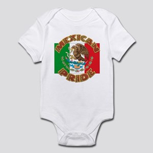 Mexican Pride With Mexico Flag Infant Bodysuit