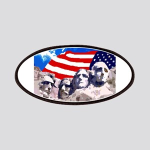 Mount Rushmore with American Flag Patch