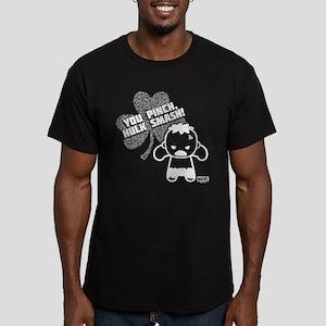 Hulk St Paddy's Day Ka Men's Fitted T-Shirt (dark)