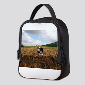 Puppy On Hay Neoprene Lunch Bag