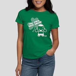 Hulk St Paddy's Day Kawaii Women's Dark T-Shirt