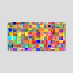Color Mosaic Aluminum License Plate