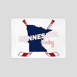 Minnesota Hockey 5'x7'Area Rug