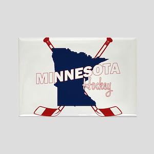 Minnesota Hockey Rectangle Magnet