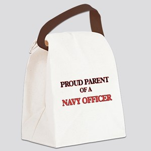 Proud Parent of a Navy Officer Canvas Lunch Bag