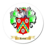 Reeves Round Car Magnet