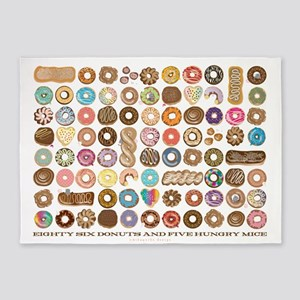 86 Donuts 5'x7'area Rug