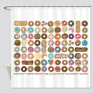 86 Donuts Shower Curtain