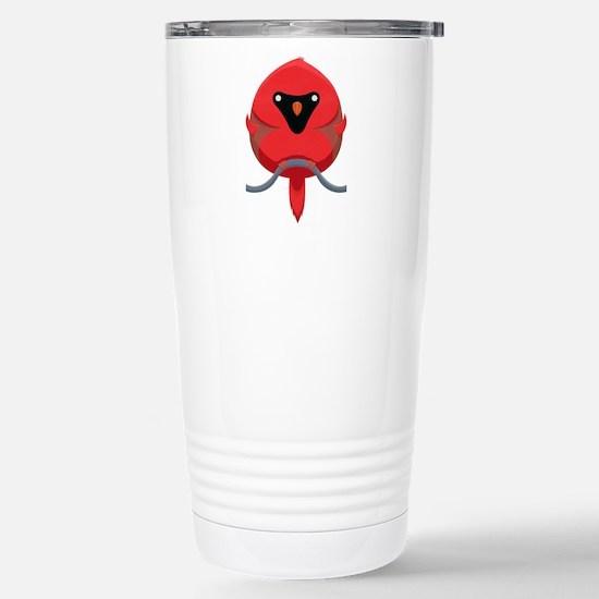 Cartoon Cardinal Travel Mug