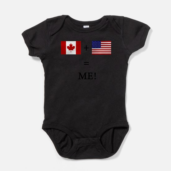 Born in canada baby clothes cafepress cute born in canada baby bodysuit negle Images