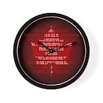 Canada Anthem Souvenir Wall Clock