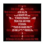 Canada Anthem Souvenir Tile Coaster