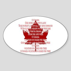 Canada Anthem Souvenir Sticker Maple Leaf Art