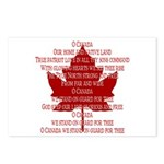 Canada Anthem Souvenir Postcards 8 pack Maple Leaf
