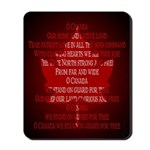 Canada Anthem Souvenir Mousepad Maple Leaf Design