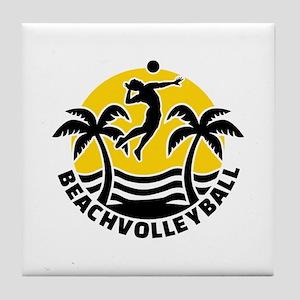 Beachvolleyball Tile Coaster