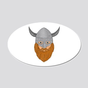 Viking Warrior Head Drawing Wall Decal