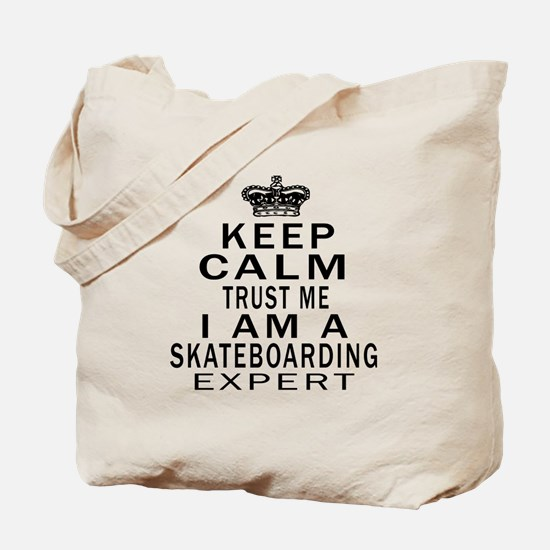 Skateboarding Expert Designs Tote Bag