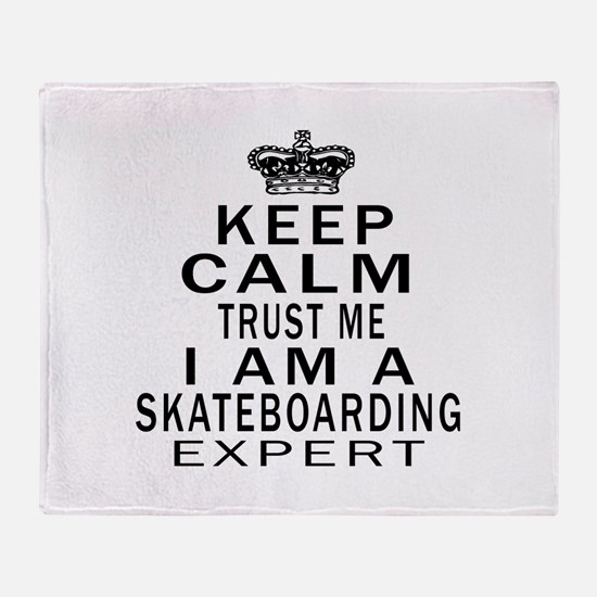 Skateboarding Expert Designs Throw Blanket