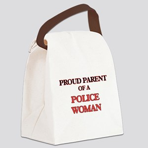 Proud Parent of a Police Woman Canvas Lunch Bag