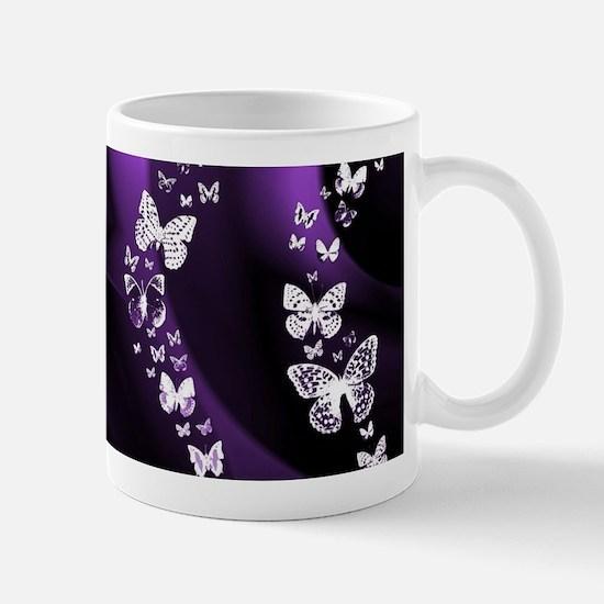 Purple Butterfly Swirl Mugs