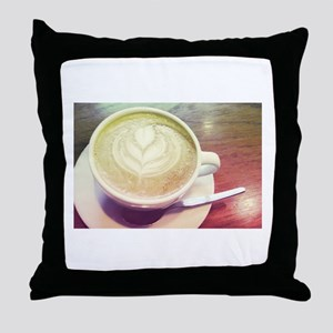 vintage coffee love Throw Pillow