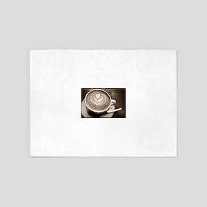 cappuccino art 5'x7'Area Rug