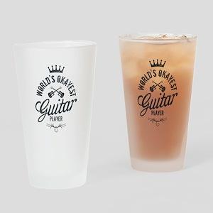 World's Okayest Guitar Player Drinking Glass