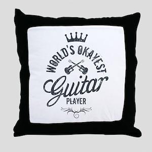 World's Okayest Guitar Player Throw Pillow