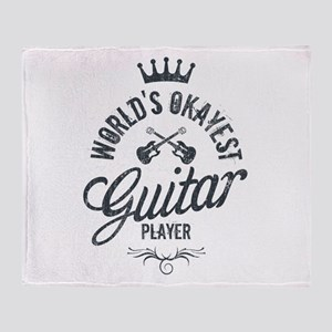 World's Okayest Guitar Player Throw Blanket