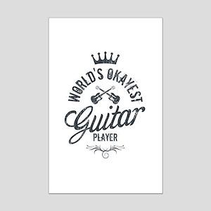 World's Okayest Guitar Player Mini Poster Print