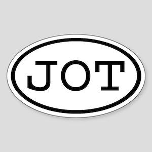 JOT Oval Oval Sticker