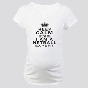 Netball Expert Designs Maternity T-Shirt