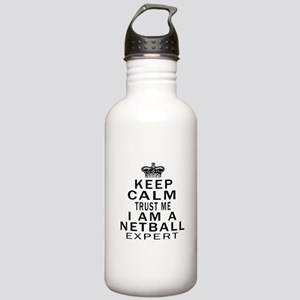 Netball Expert Designs Stainless Water Bottle 1.0L