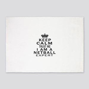 Netball Expert Designs 5'x7'Area Rug